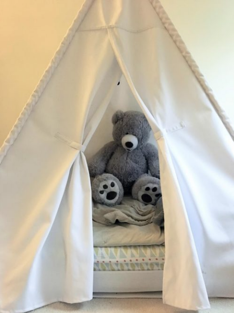 The Project Lady - DIY – How-to Make a Toddler Teepee Bed
