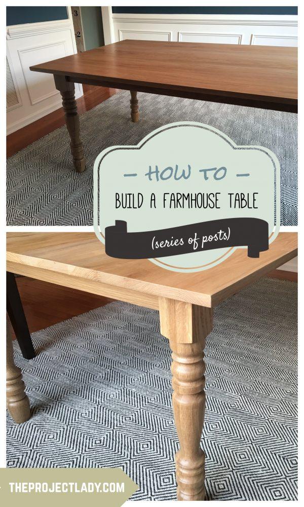 How to build a Farmhouse Table (Harp Design copycat) - theprojectlady.com