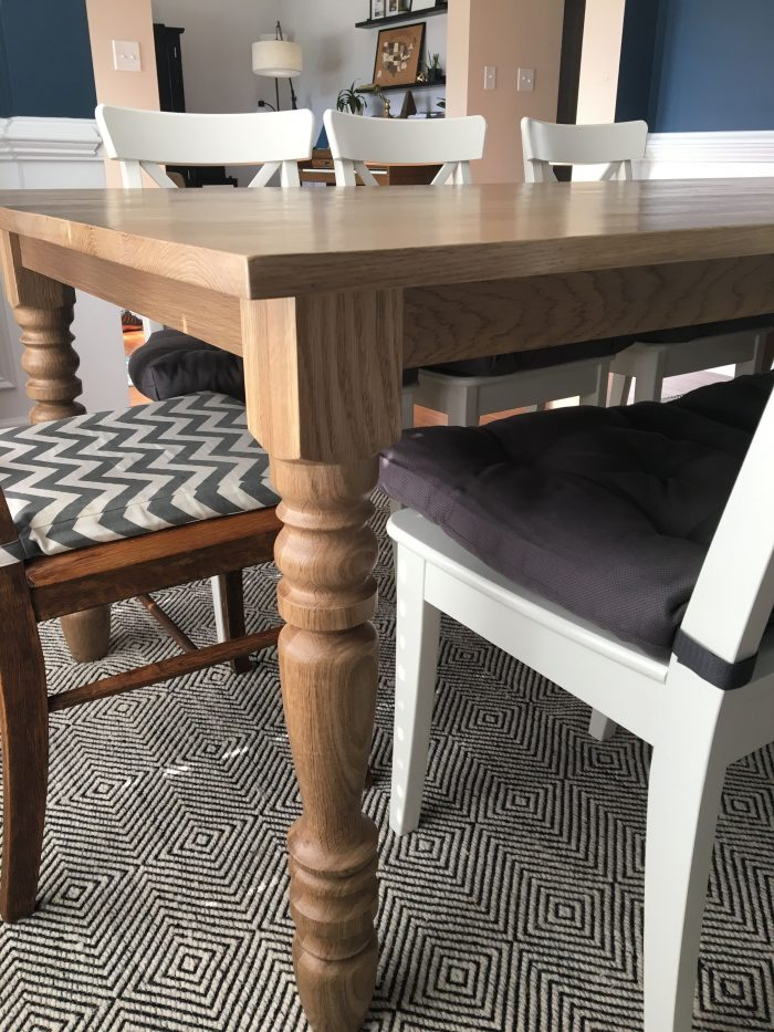 Final details & Assembly for a Farmhouse Table (Harp Design copycat) - theprojectlady.com
