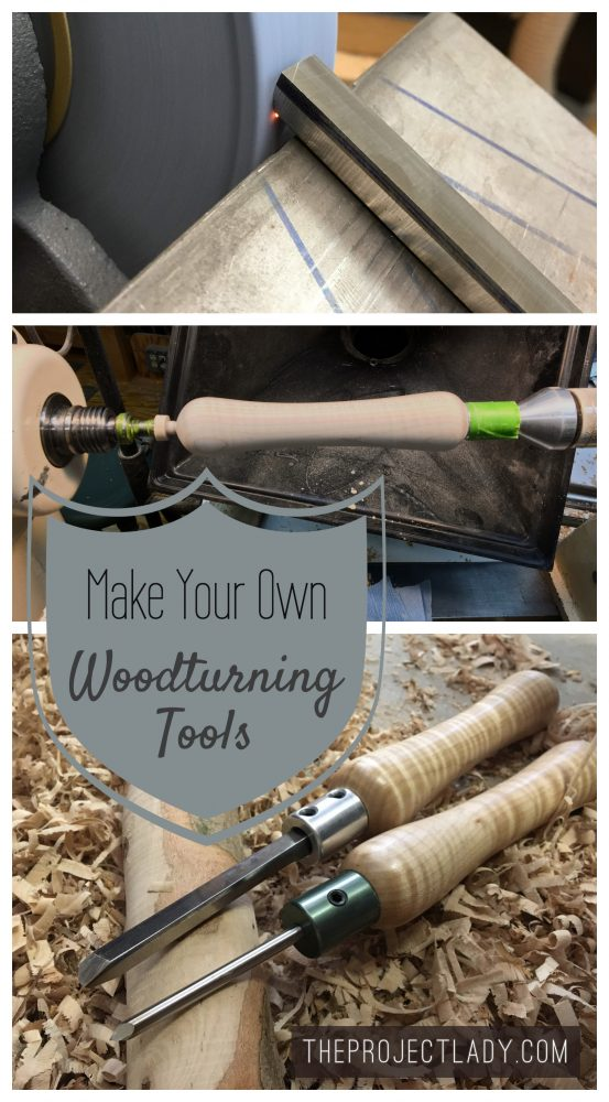 Make Your Own Woodturning Tools - theprojectlady.com