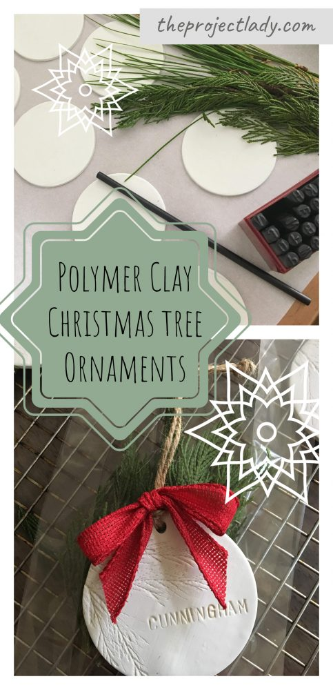 DIY Polymer Clay Christmas Tree Ornaments - theprojectlady.com