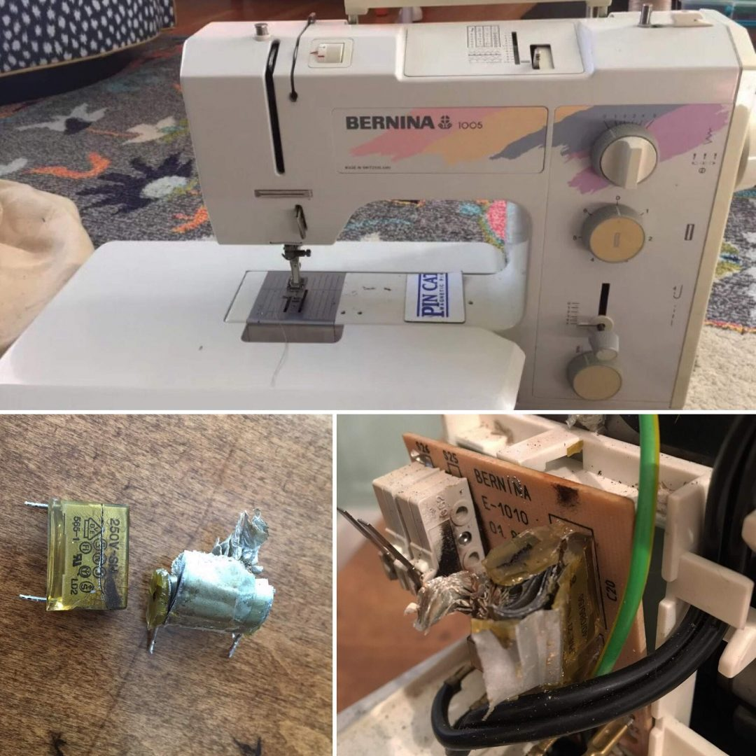 The Project Lady - How to Repair a Sewing Machine Capacitor