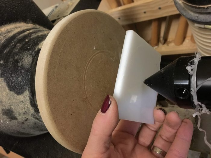 Make your own Zero Clearance Bandsaw Insert - theprojectlady.com