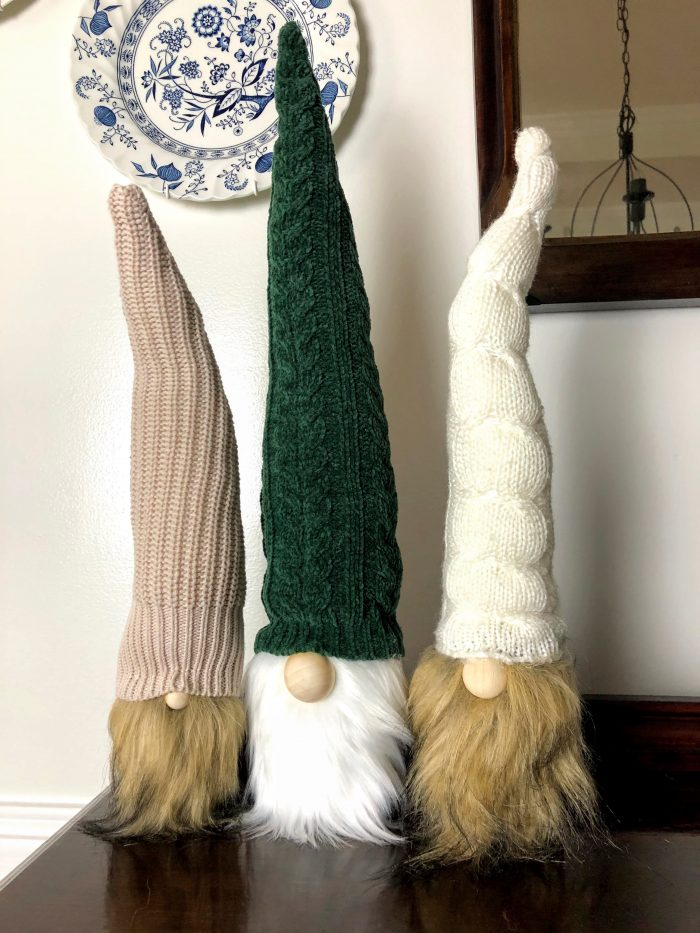 How to Make Wooden Christmas Gnome with Bendable-Knit Hat