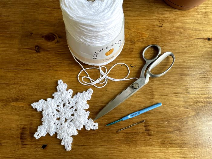 How to Crochet a Snowflake Ornament  www.theprojectlady.com